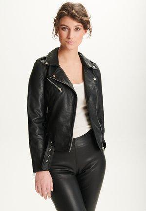 EMMA - Leather jacket - black silver