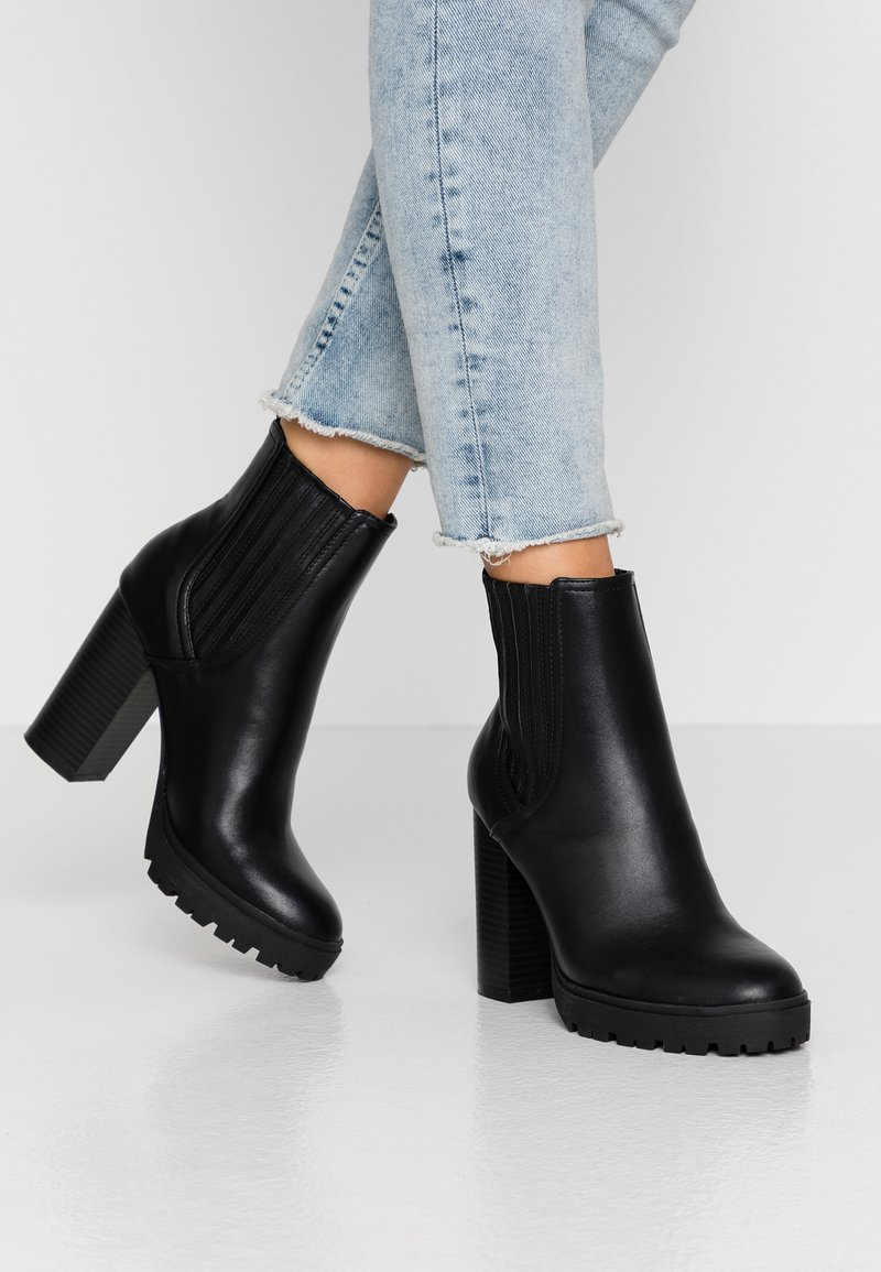 Nly by Nelly - High heeled ankle boots - black