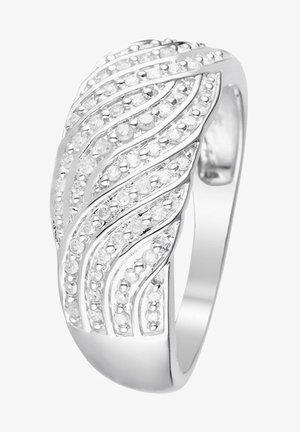 WHITE GOLD RING 9K CERTIFIED 81 DIAMONDS HP1 0.25 CT - Bague - silver