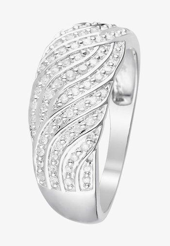 WHITE GOLD RING 9K CERTIFIED 81 DIAMONDS HP1 0.25 CT - Ring - silver