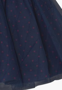 Lemon Beret - SMALL GIRLS - A-line skirt - navy blazer - 3