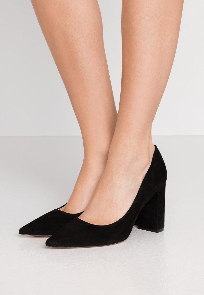 HUGO - INES CHUNKY - High heels - black
