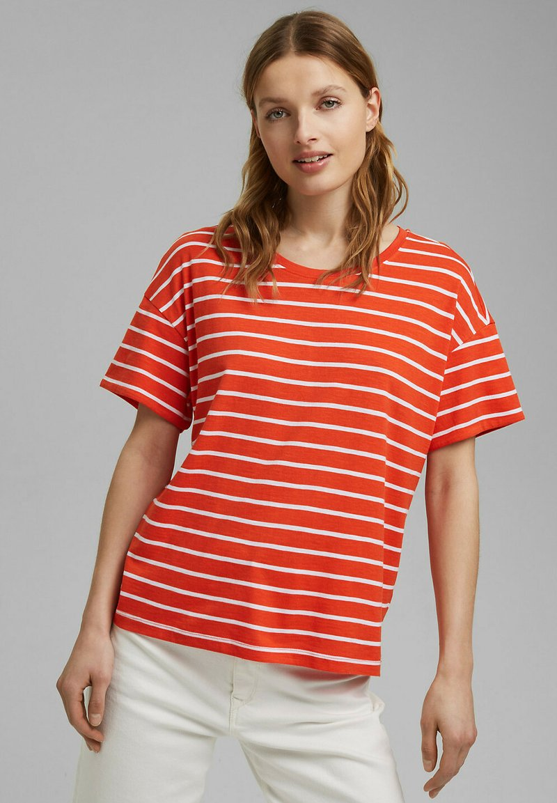 Esprit - Print T-shirt - orange