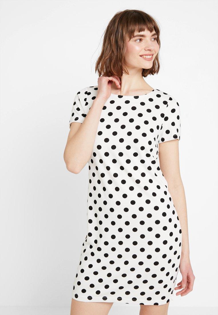 Vila - VITINNY - Shift dress - snow white/black