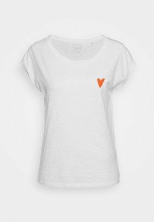SHORT SLEEVE ROUND NECK - Print T-shirt - off white