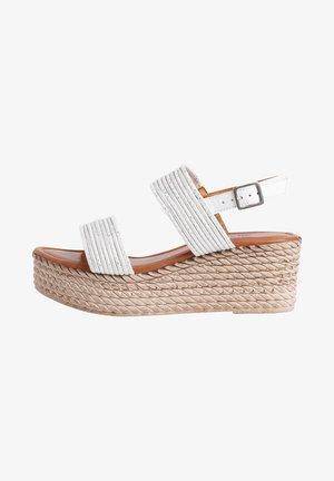Platform sandals - white/silver