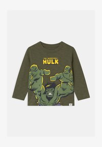 GAP - TODDLER BOY MARVEL THE INCREDIBLE HULK GRAPHICS - Long sleeved top - army green - 0