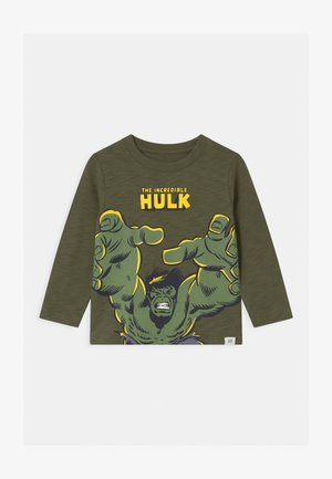 TODDLER BOY THE INCREDIBLE HULK GRAPHICS - Top s dlouhým rukávem - army green