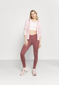 South Beach - HIGH WAIST SHINE PANEL LEGGING - Medias - rose/brown - 1