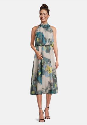 MIT BLUMENPRINT - Day dress - beige/blue