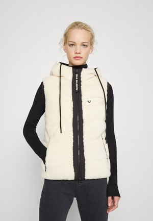 HOODY VEST - Waistcoat - white/black