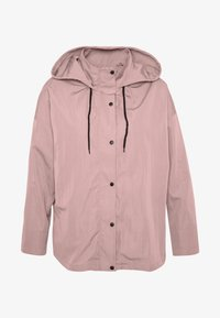 Missguided Plus - BUTTON UP HOODED - Summer jacket - pink - 3