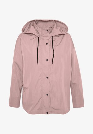 BUTTON UP HOODED - Lehká bunda - pink