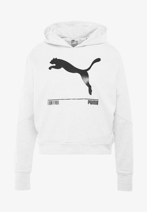 NU TILITY HOODY - Jersey con capucha - white heather