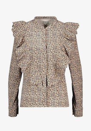 Skjorte - multifarget brun