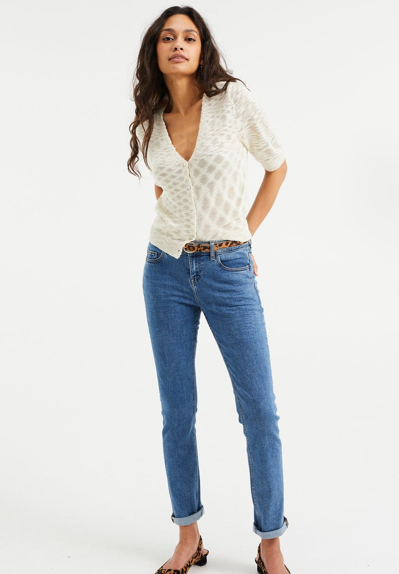 WE Fashion - MET SUPER STRETCH - Jeans slim fit - blue