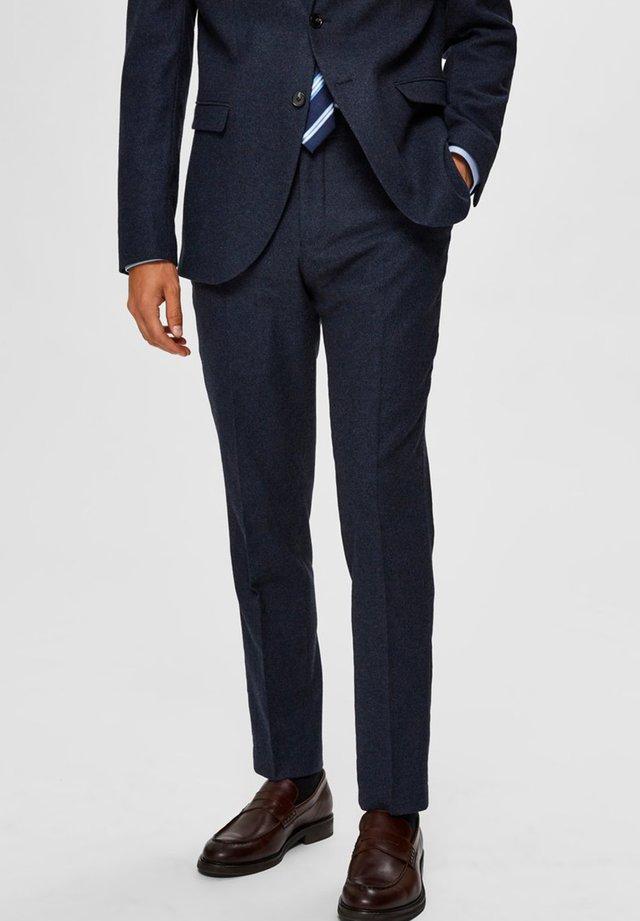 Spodnie garniturowe - medium blue melange