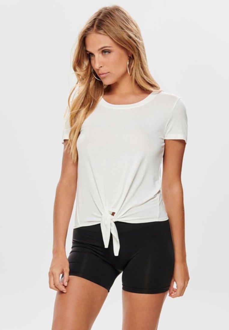 ONLY - ONLARLI  - T-shirt z nadrukiem - white