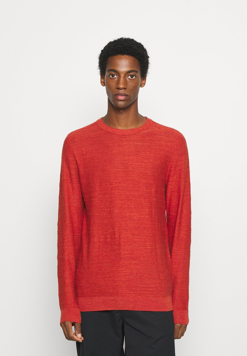 Selected Homme - SLHBUDDY CREW NECK - Jumper - ketchup