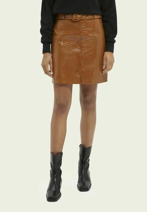 Leather skirt - spice