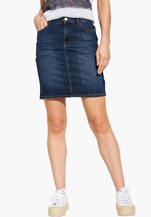 COMMA CASUAL IDENTITY DAMEN JEANSROCK - A-line skirt - blau (51)