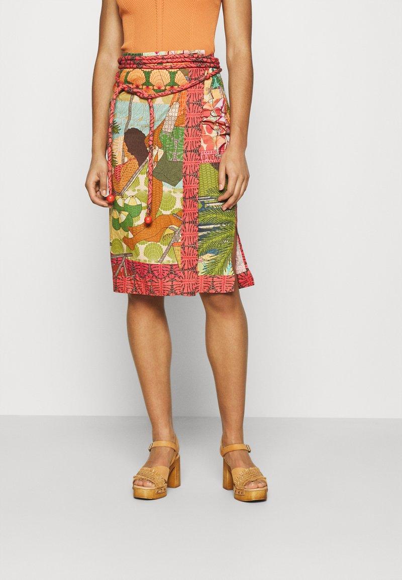Farm Rio - BEACH DESIRE WRAP SKIRT - Pencil skirt - multi