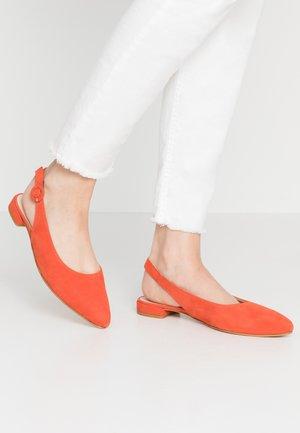 Ballerinaskor med slingback - red