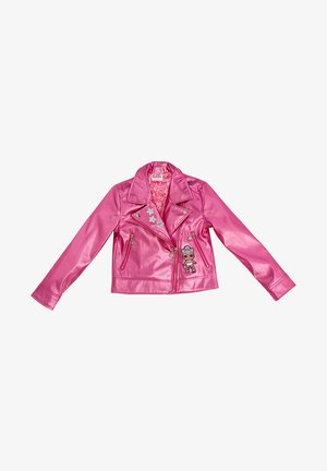 Faux leather jacket - pink