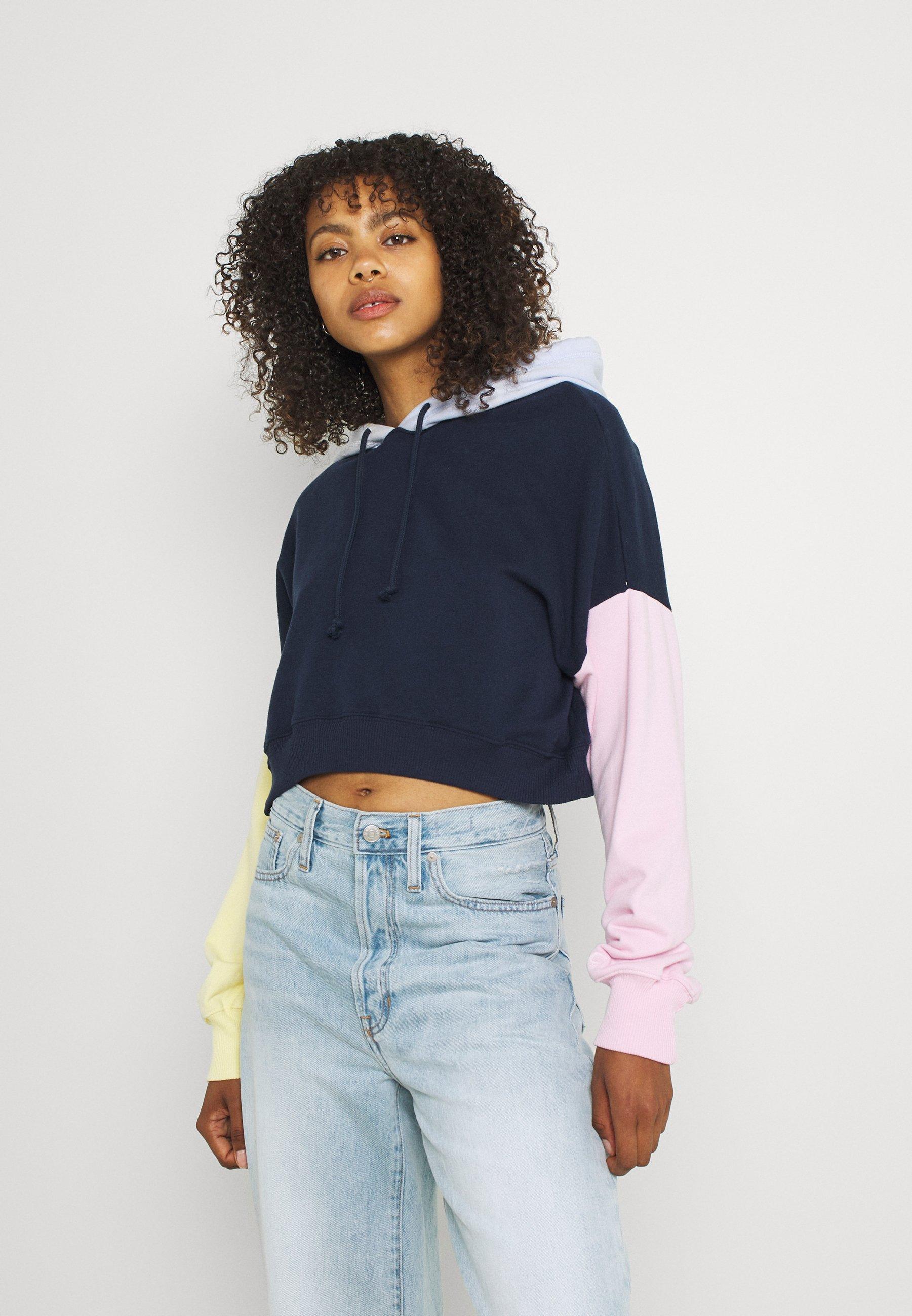 Women COLORBLOCKED CROPPED - Sweatshirt