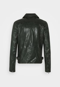 Goosecraft - BERLINER BIKER - Kožená bunda - dark green - 1