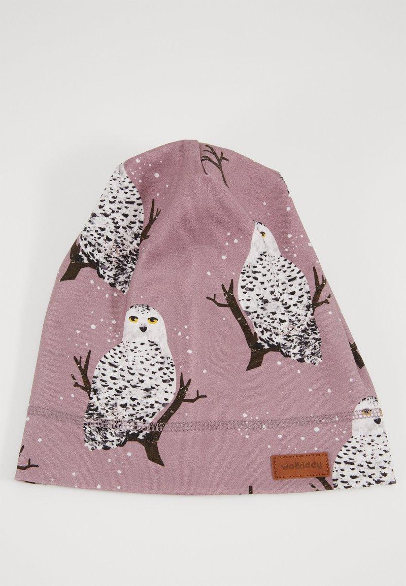 Walkiddy - BEANIE SNOW OWLS - Čepice - purple