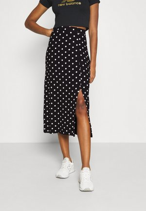 Midi high slit high waisted skirt - Gonna a tubino - black/white