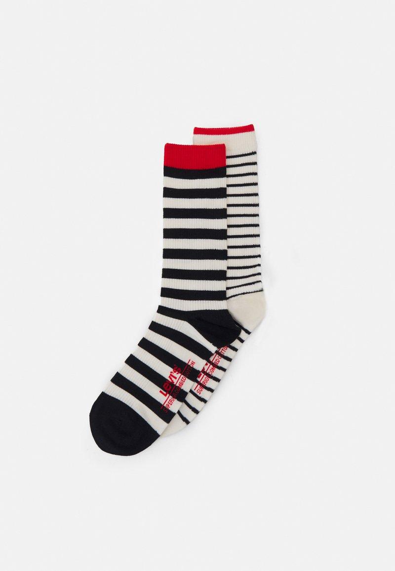 Levi's® - BRETON STRIPE REGULAR CUT 2 PACK UNISEX - Socks - black/white
