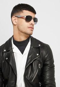 Prada Linea Rossa - Sunglasses - dark grey metal rubber - 1