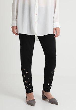LADIES EYELET - Leggings - Trousers - black