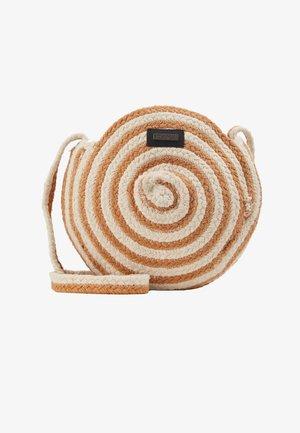 DAY STRIPE - Across body bag - camel/beige