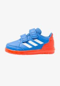 true blue/footwear white/active orange