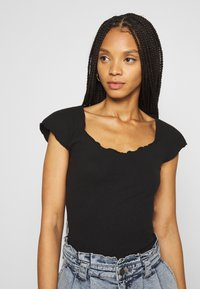 Missguided - 2 PACK - Basic T-shirt - black/cream - 2
