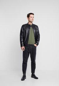 Strellson - BRIXTON - Leather jacket - black - 1