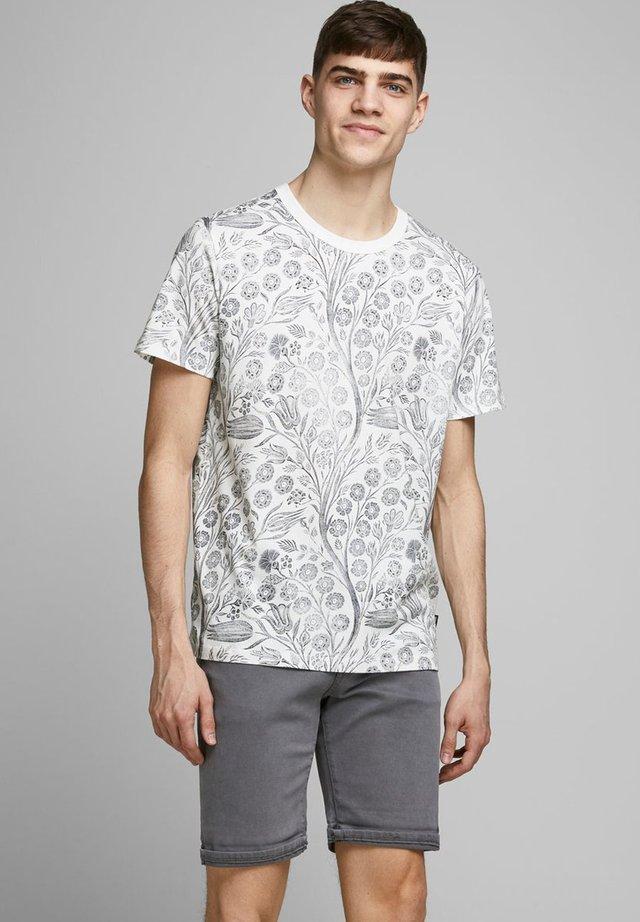 Print T-shirt - blanc de blanc