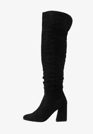 DELIGHT - Kozačky na vysokém podpatku - black