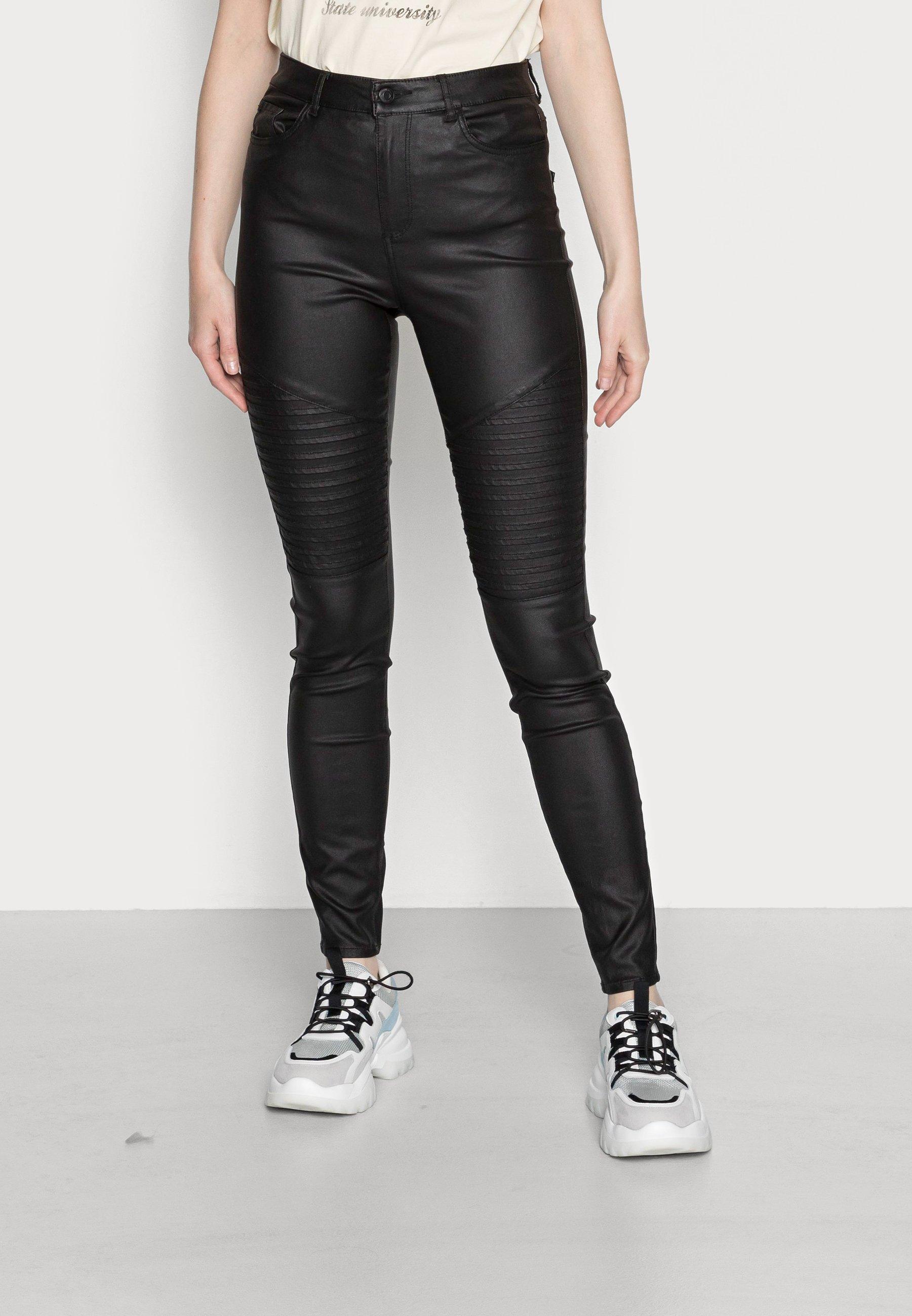 Women VMSOPHIA SKINNY BIKER COATED  - Jeans Skinny Fit