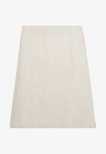 MINI SKIRT - A-line skirt - beige