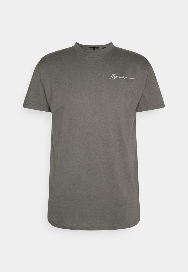 Mennace - ESSENTIAL REGULAR UNISEX - T-shirt basique - washed black