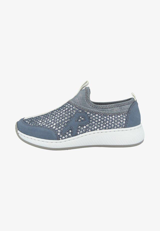 Slipper - blue/silver