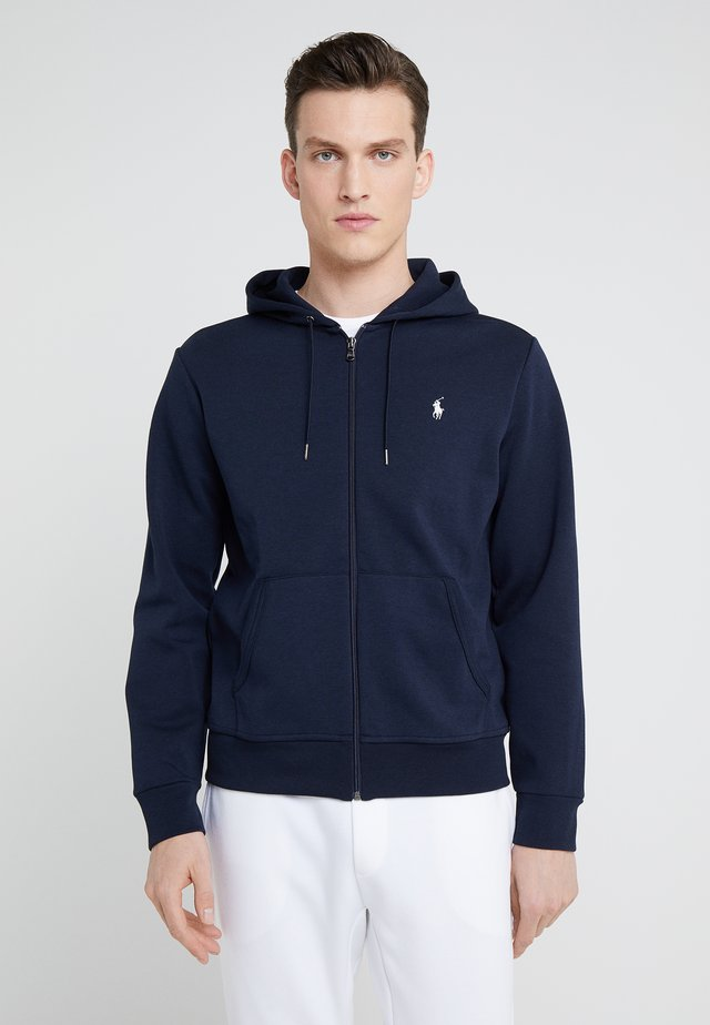 DOUBLE TECH - Zip-up hoodie - aviator navy