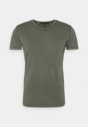 FINN - T-shirt basic - mottled olive