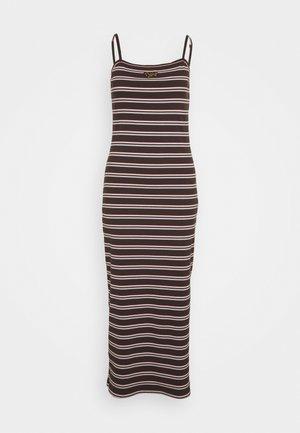 FEMME DRESS  - Maxi dress - baroque brown/metallic gold