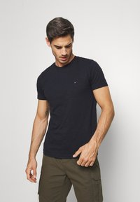 Tommy Hilfiger - SLUB TEE - Basic T-shirt - blue - 0