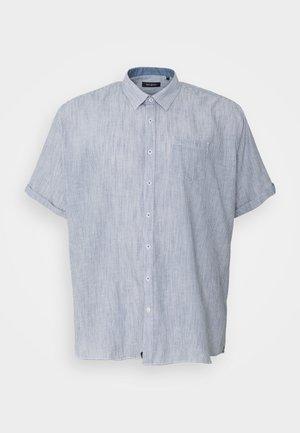 STRIPED STRUCTURE SHIRT - Shirt - navy